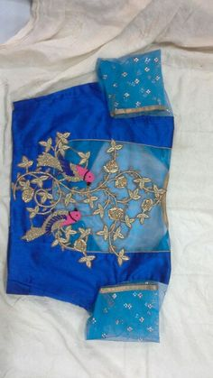 Uppada pattu blouse with gold zardosi