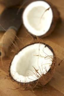 how to cut up a fresh coconut