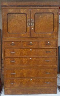 595+shipping Japanese-Geisha-Kimono-Tansu-Burled-Wood-Cabinet-3-section