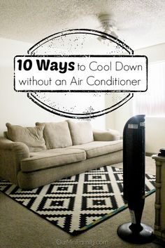 10 ways to cool down this spring and summer without an air conditioner. Hopefully I don't need these tips but pinning just in case! Happy Hippie, Stuff To Do, Cool Stuff, Heating And Air Conditioning, First Apartment, Heating And Cooling, Home Hacks, Sustainable Living, Frugal Living