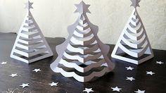 Sapin blanc 3D de Noël en papier | Origami facile avec les enfants - YouTube