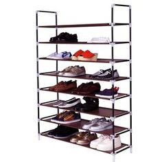 Rebrilliant 80 Pair Shoe Rack | Wayfair 8 Tier Shoe Rack, Shoe Rack Grey, Shoe Rack Tower, Large Shoe Rack, 50 Pair Shoe Rack, Shoe Rack Hanger, Diy Rack, Shoe Rack With Shelf, Rack Shelf