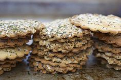 """Chickpea """"everything"""" crackers"""