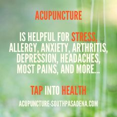 Acupuncture, Arthritis, Allergies, Anxiety, Depression, Periodic Table, Stress, Feelings, Health