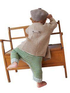 Strikkeopskrift: Frakke og bukser til de mindste   Familie Journal