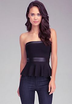 Bandage Peplum Tube Top; find a similar style at H&M if you want the look for less.