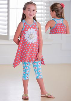 From CWDkids: Sequin Daisy Tunic Set
