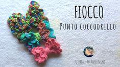 Tutorial - Fiocco con punto coccodrillo #crocodile #stitch #crochet #bow #fiocco #uncinetto #perfiloesegno @perfiloesegno #fermaglio uncinetto