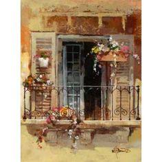 Balcony IV Canvas Art - Willem Haenraets (18 x 24)