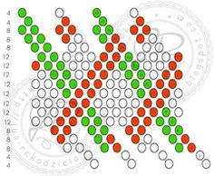 JPo-kulka9-przeplot Bead Crochet Patterns, Bead Crochet Rope, Beading Patterns, Beading Tutorials, Beaded Jewelry, Beaded Bead, Seed Beads, Tatting, Christmas Crafts