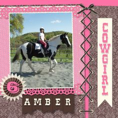 Cowgirl scrapbook layout made with My Digital Studio software from Stampin' Up!