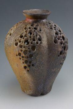 Wood-fired-Illuminated-Mellon-Vase by Simon van der Ven