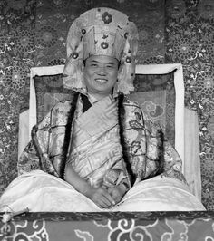 HH 16th Karmapa in Rumtek 1978