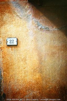 Plate with number twenty-two - - ©Silvia Ganora Photography - All Rights Reserved #bookcovers #numbers #wall