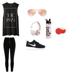 """Out for a walk"" by cutestyles360 ❤ liked on Polyvore featuring NIKE, Ray-Ban and Eos"