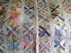 Vintage Antique Handmade Quilt 1930's Feed Sack x Block Kentucky Patchwork Quilt | eBay