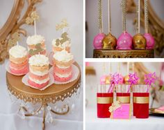Princesses & unicorns birthday party treats! See more party planning ideas at CatchMyParty.com!