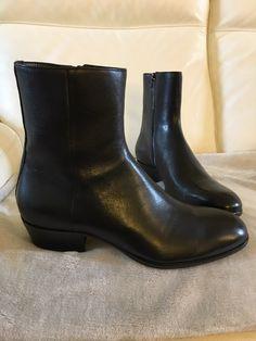 huge discount 7daa3 67fc8 Maison Margiela M Argiela Tuxedo Black Cuban Heel Boots Size 9 526 -  Grailed Cuban Heel