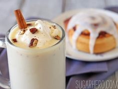 Cinnamon Bun White Hot Chocolate - SugarHero