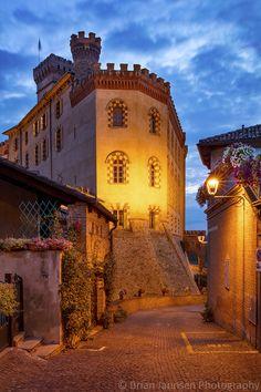 Barolo and Museo del Vino a Barolo, Piemonte, Italy. © Brian Jannsen Photography