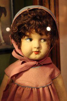 Lenci doll. Suomenlinna Toy Museum, Helsinki, Finland.