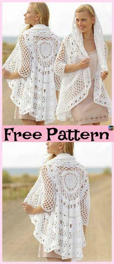 15 Unique Crochet Circular Jacket Free Patterns #freecrochetpatterns #jacket #clothes