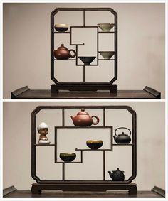 Chinese gong fu tea ceremony tea ware: ancient by Chinateaware Chinese Tea Room, New Chinese, Chinese Style, Chinese Furniture, Oriental Furniture, Chinese Interior, Modern Interior, Tea Table Design, Zen Interiors