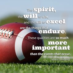 Football quote by Vince Lombardi