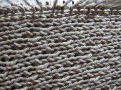 TOM MACHINE KNITTING GUY: Sweater Vest Update - Hanging Armhole Edges