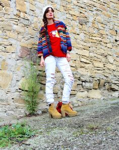 etnomood and angrybird #nerdoverdose #tshirt #red #outfit #streetstyle #fashionblogger #jeans