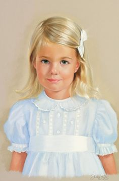 Child's Portrait by Artist Sally Gates