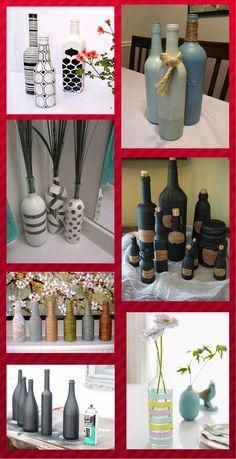 Dica para decorar garrafas ~ Artesanato na Pratica