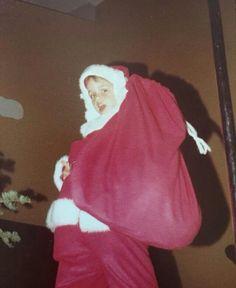 Billie Joe Armstrong, 5 years old in a Santa suit