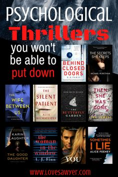 Are you looking for a creepy psychological thriller to read this summer? I've got just the book list for you. Best selling highly recommended thrillers that promise to keep you guessing till the very last page. Amazing plot twists you'll never forget || Books you won't be able to put down #booked
