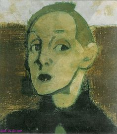 Helene Schjerfbeck Self Portrait. This is my favourite self portrait of Schjerfbeck. It grabbed me by the throat the first time I saw it 'for real'. Helene Schjerfbeck, L'art Du Portrait, Figurative Kunst, Art Graphique, Art For Art Sake, Artist Art, Female Art, Painting & Drawing, Art History