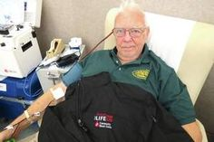 Karl Hilt of Fairborn reached his 100th lifetime donation milestone at the downtown Dayton Community Blood Center (CBC) last week. http://www.fairborndailyherald.com/news/home_top/150886133/Hilt-makes-100th-blood-donation
