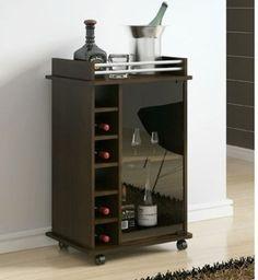 Mueble Bar Melamina 18mm. Medida: 80cm de Alto x 30cm de Profundidad x 50cm de Largo