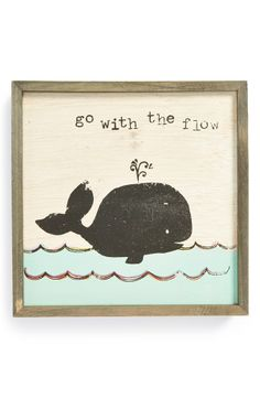 Go with the Flow Wooden Wall Art