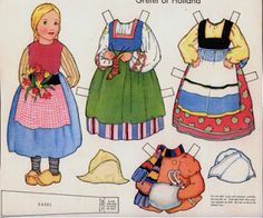 Holland paper doll - culture