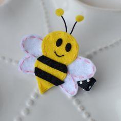 Felt Bumblebee Hair Clip Cute Bee Bow by MyLittlePixies on Etsy, $3.75