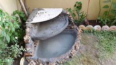 Homemade Simple Concrete-Stone Small Fountain!