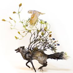 New Surrealist Sculptures by Ellen Jewett Effortlessly Combine Animals With Their Fantastical Surroundings