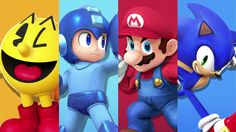 Super Smash Bros Wii U/3DS. When you think about it, this picture's amazing! Icons that will forever represent gaming!
