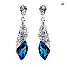 Earring Drop Earrings Jewelry Women Party / Daily Alloy 1 pair White / Red / Orange / Green / Purple Z&X® 2017 - $2.69