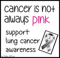 supporting lung cancer awareness
