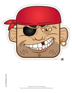 Bandana Pirate Mask Printable Mask, free to download and print
