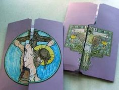 Our Lenten Lapbooks are ready to go. All they need now is some personalization by their owners. The focal point of the lapbook is Catholic Icicng's printable Lenten calendar for children. Catholic Lent, Catholic Crafts, Teaching Religion, Religion Activities, Kids Calendar, Countdown Calendar, Bible Crafts, Kids Crafts, Lenten