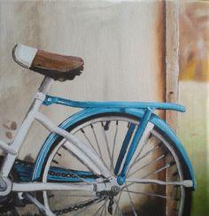 vintage bicycle painting