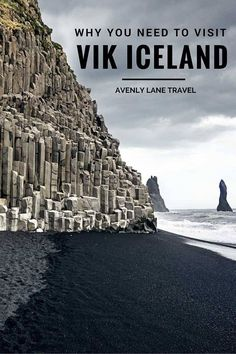 Vik Iceland, Why It Is A MUST See! is part of Iceland travel - What to see in Vik Iceland! The black sand beach in Vik Iceland was unlike anything I had ever seen before and worth a day trip from Reykjavik for sure Oh The Places You'll Go, Places To Travel, Travel Destinations, Places To Visit, Iceland Adventures, Iceland Travel, Iceland Beach, Iceland Black Sand Beach, Reykjavik Iceland