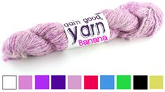 Banana Fiber Yarn - Can't wait to try this unique yarn! See more @ the Darn Good Yarn link on www.greenearthdealsonline.com